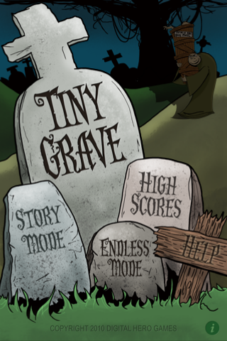 Tiny Grave Main Menu